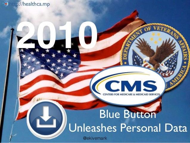 @ekivemarkhttp://healthca.mp Blue Button Unleashes Personal Data http://healthca.mp 2010 @ekivemark
