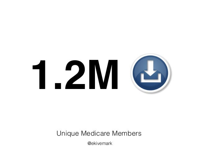 1.2M Unique Medicare Members @ekivemark
