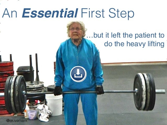 An Essential First Step @ekivemark …but it left the patient to do the heavy lifting