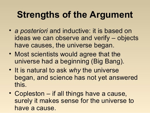 examine the cosmological argument for t What is the cosmological argument for the existence of god can god's existence be proven why should i believe that god exists.