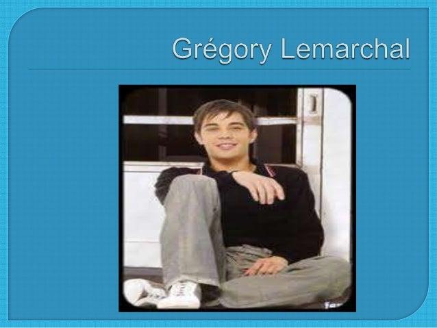 Grégory Lemarchal né le 13 mai 1983 et ilmort le 30 Avril 2007.Depuis lénfance, Il était malade despoumons Graines