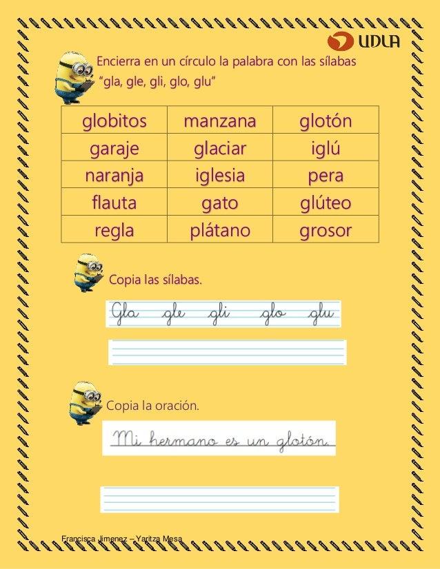 Palabras Con Combinaciones Gla 1100 Palabras Con Gla Gle Gli Glo Y