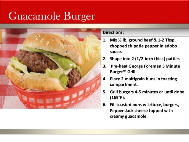 5 minute burger grill recipes for George foreman grill fish