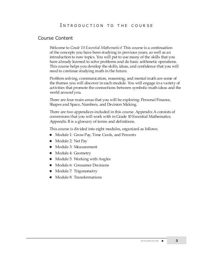 Grade 10 Academic Math Online