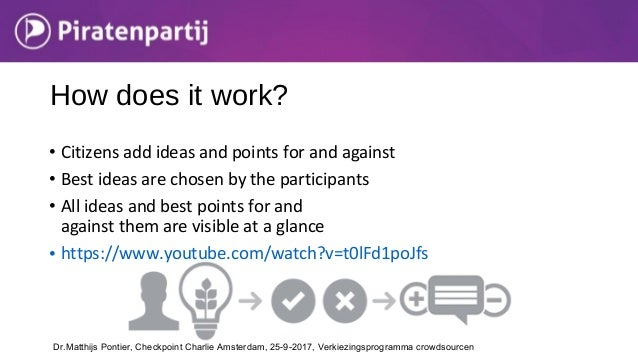 • Citizens add ideas and points for and against • Best ideas are chosen by the participants • All ideas and best points fo...