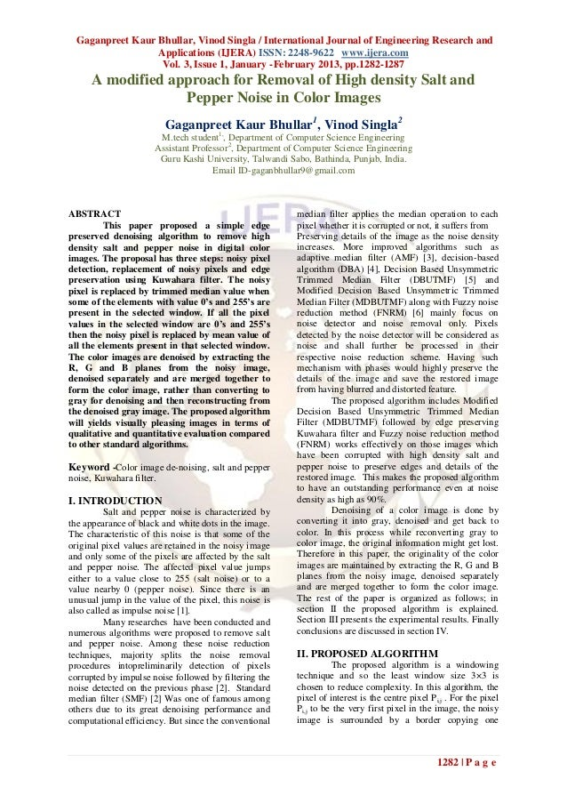 Gaganpreet Kaur Bhullar, Vinod Singla / International Journal of Engineering Research and                  Applications (I...