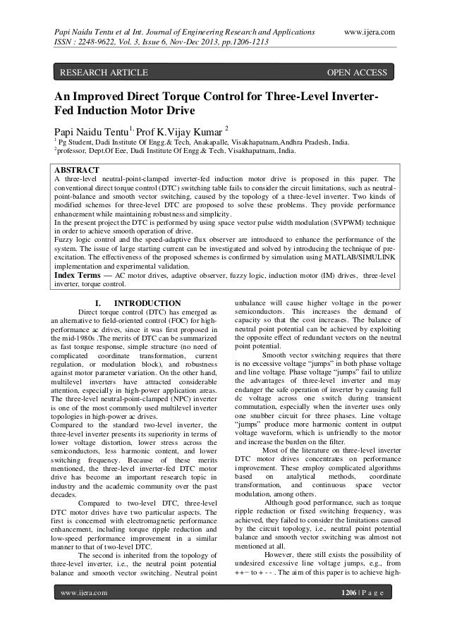Papi Naidu Tentu et al Int. Journal of Engineering Research and Applications ISSN : 2248-9622, Vol. 3, Issue 6, Nov-Dec 20...