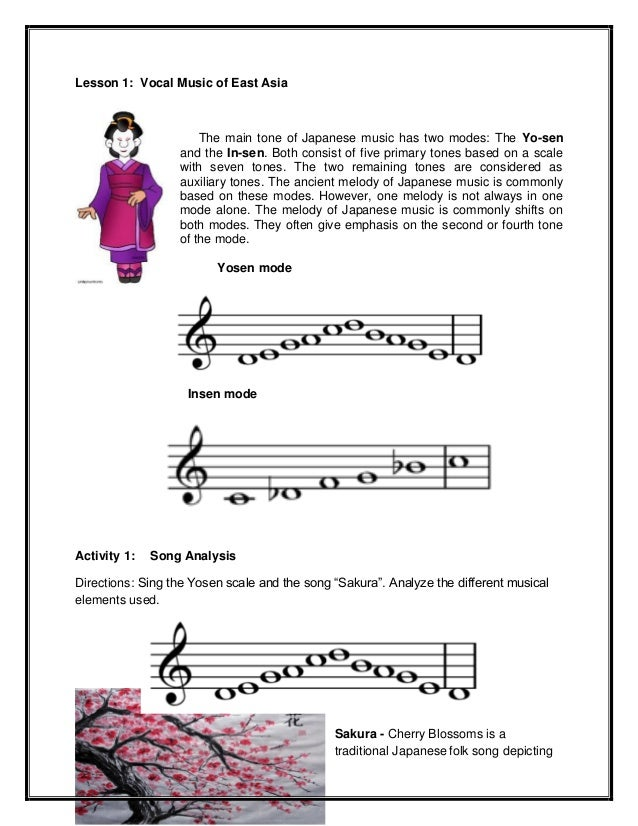 Think, that asian music scale