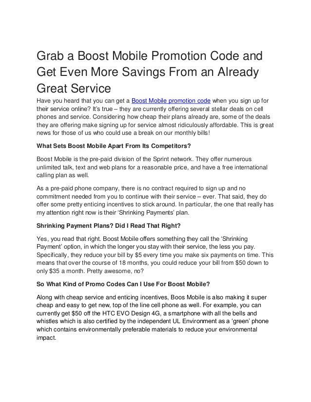 Grab a boost mobile promotion code and get even more savings from an …
