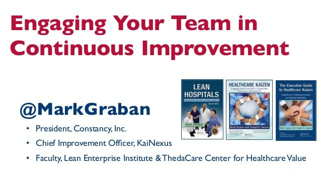 Engaging Your Team in Continuous Improvement  @MarkGraban  • President, Constancy, Inc.  • Chief Improvement Officer, ...