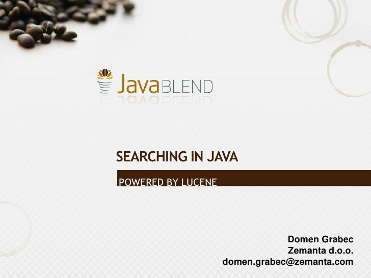 [Grabec] Solr - Searching made easy