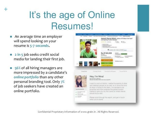 grabr simplified online resumes