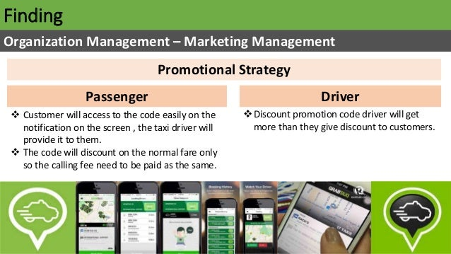 Finding Organization Management – Marketing Management Promotional Strategy DriverPassenger  Customer will access to the ...