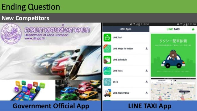 Ending Question New Competitors LINE TAXI AppGovernment Official App