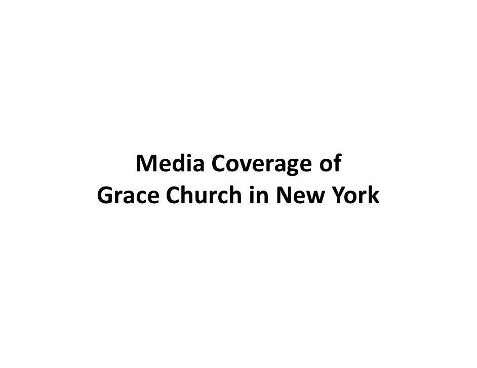 Media Coverage of Grace Church in New York