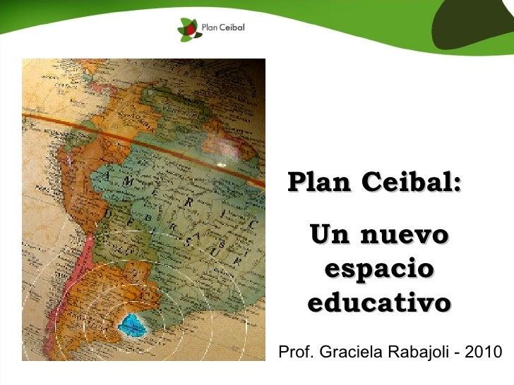 Plan Ceibal:  Un nuevo espacio educativo Prof. Graciela Rabajoli - 2010