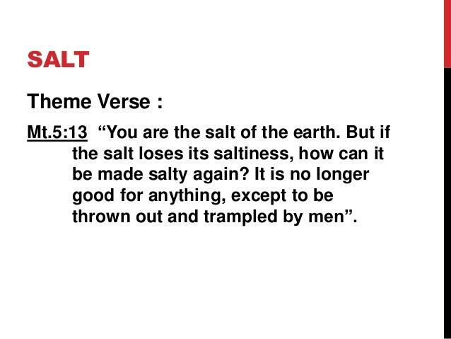 Gracious Jesus 9: Salt and Light