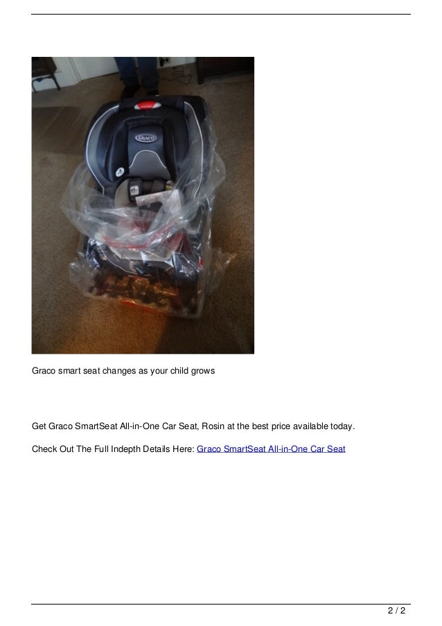 Graco SmartSeat All In One Car Seat