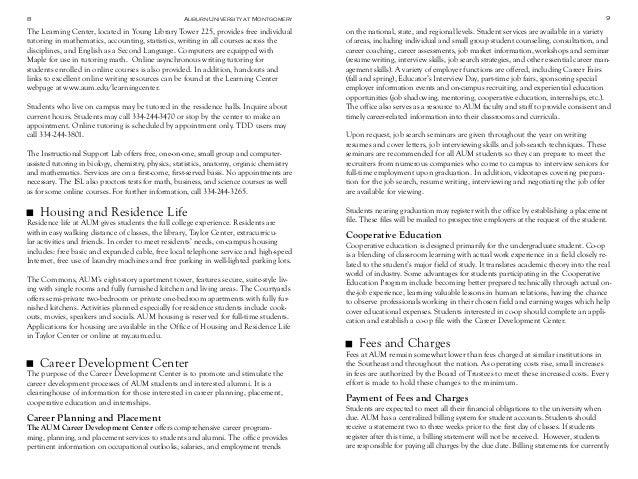 Auburn University at Montgomery Grad catalog-2014-2016