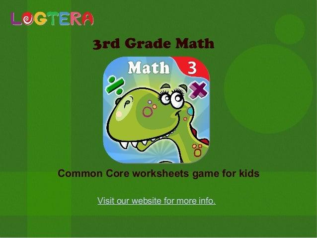 3rd grade math common core worksheets game for kids. Black Bedroom Furniture Sets. Home Design Ideas