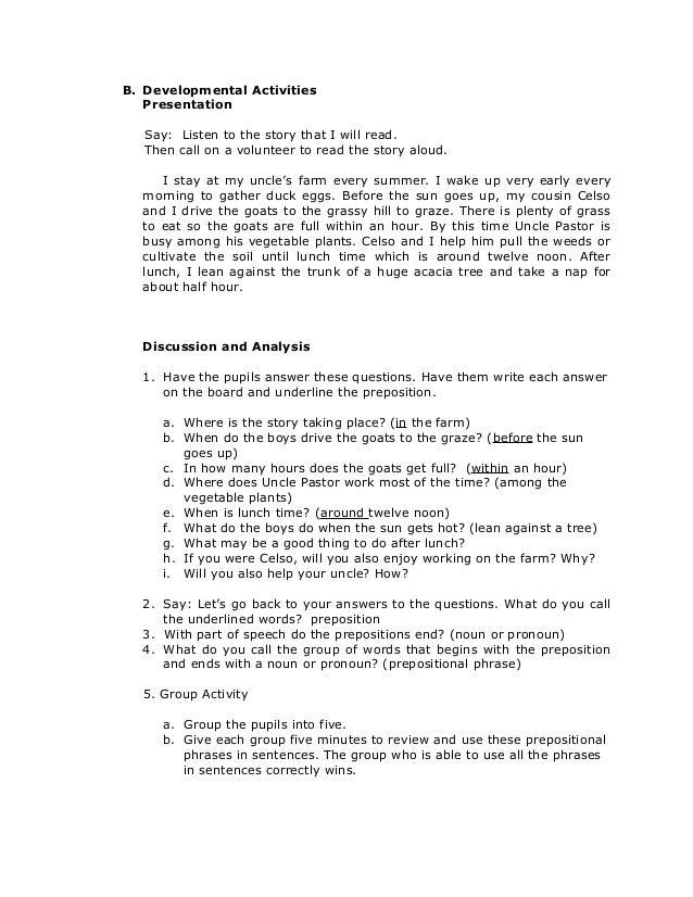Grade 6englishspeakingusingprepositionalphrases 0 – Identifying Prepositional Phrases Worksheet