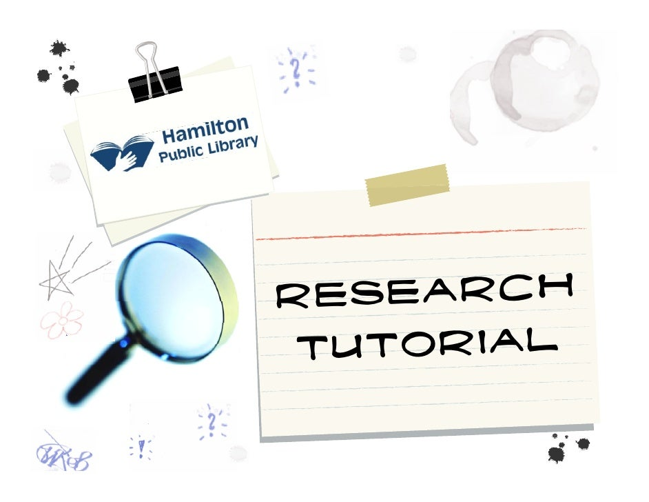 Research  Tutorial