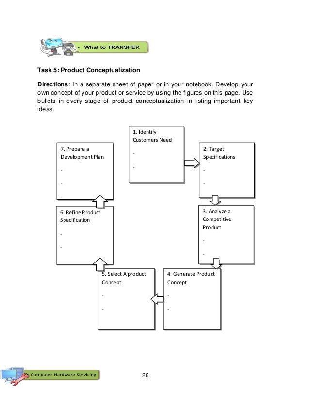 26 Task 5: Product Conceptualization Directions: In a separate sheet of paper or in your notebook. Develop your own concep...