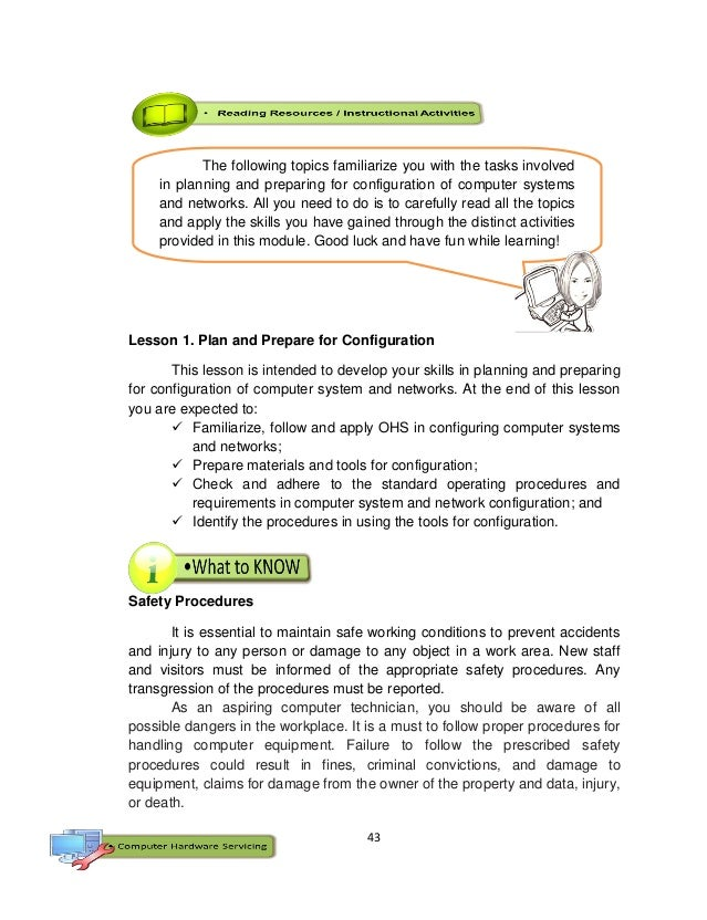 43 Lesson 1. Plan and Prepare for Configuration This lesson is intended to develop your skills in planning and preparing f...
