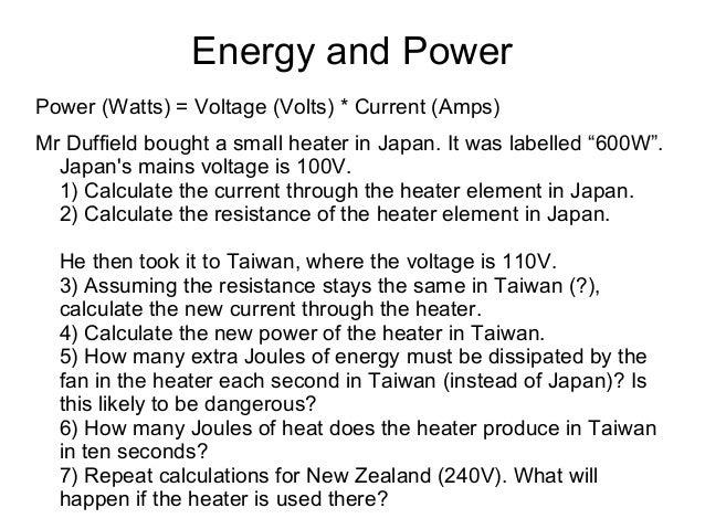 Electricity presentation (Grade 10)
