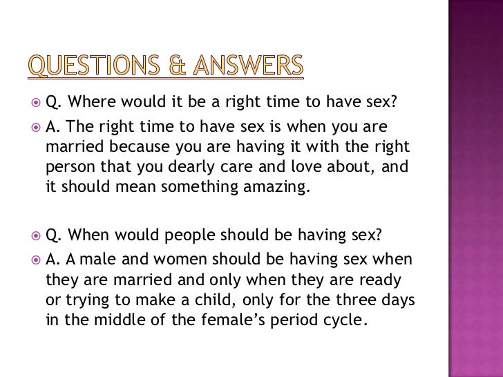 Right to have sex