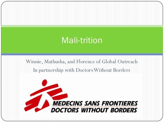 Mali-tritionWinnie, Mathusha, and Florence of Global Outreach  In partnership with Doctors Without Borders
