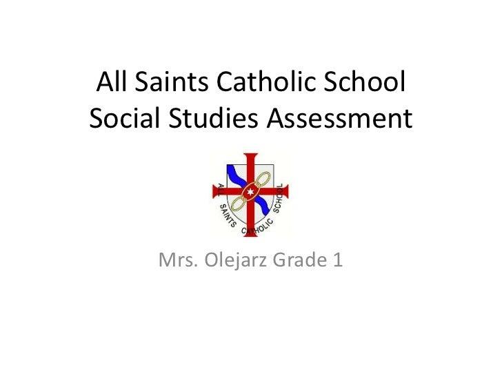 Social Studies Assessment<br />by Mrs. Olejarz Grade 2<br />