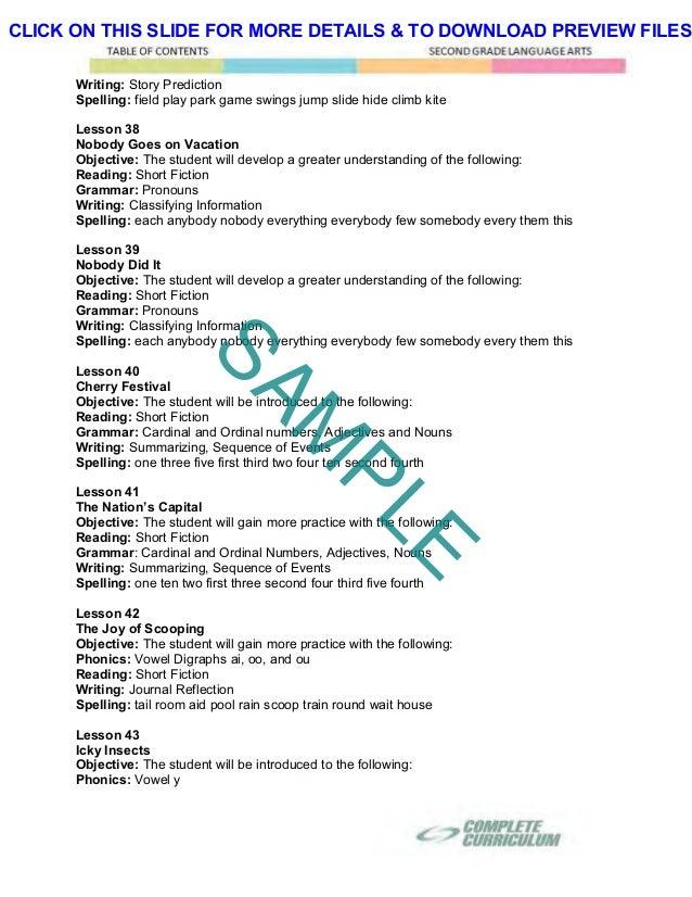 2nd Grade Homeschool Curriculum