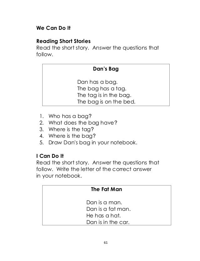 Worksheets Short Story Questions grade 2 english lm unit lesson 18 63