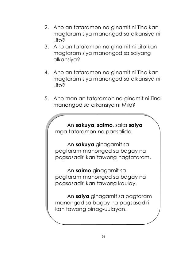 Grade 2 Mother Tongue-Based Multi-lingual Education BIKOL LM