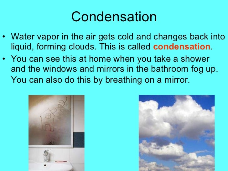 how to use condensation in a sentence