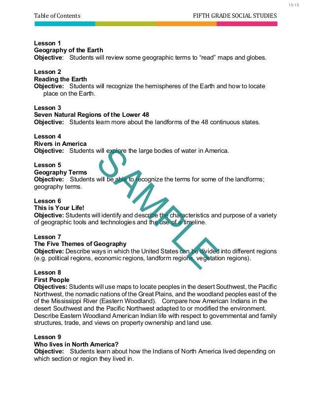 5th Grade Homeschool Curriculum Fifth Grade Social Studies Best H