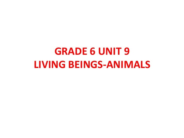 GRADE 6 UNIT 9LIVING BEINGS-ANIMALS