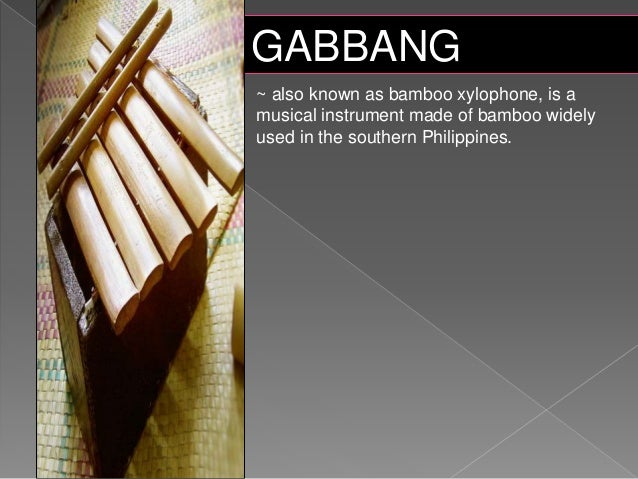 mindanao musical instruments with pictures and definitions