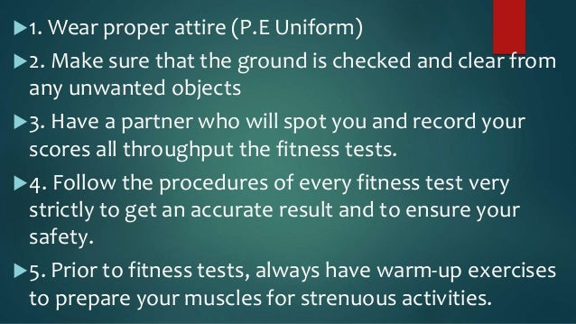 Grade 7 health related fitness test