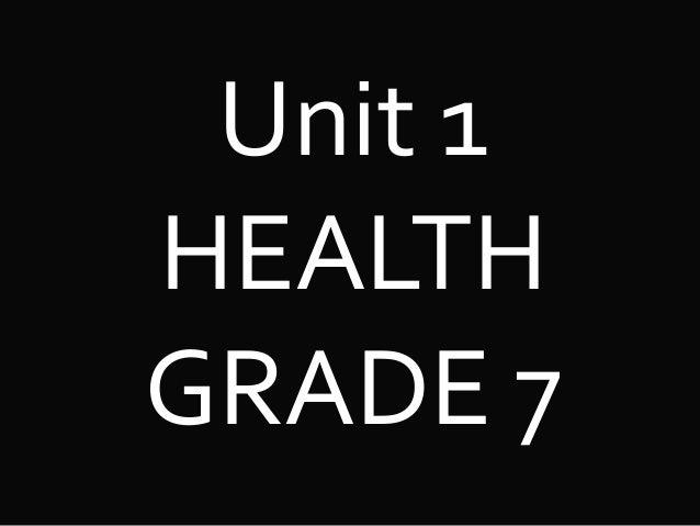 Unit 1 HEALTH GRADE 7