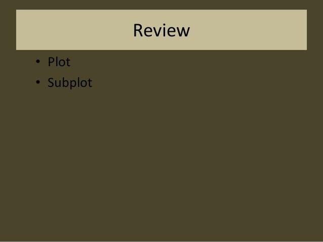 Review • Plot • Subplot