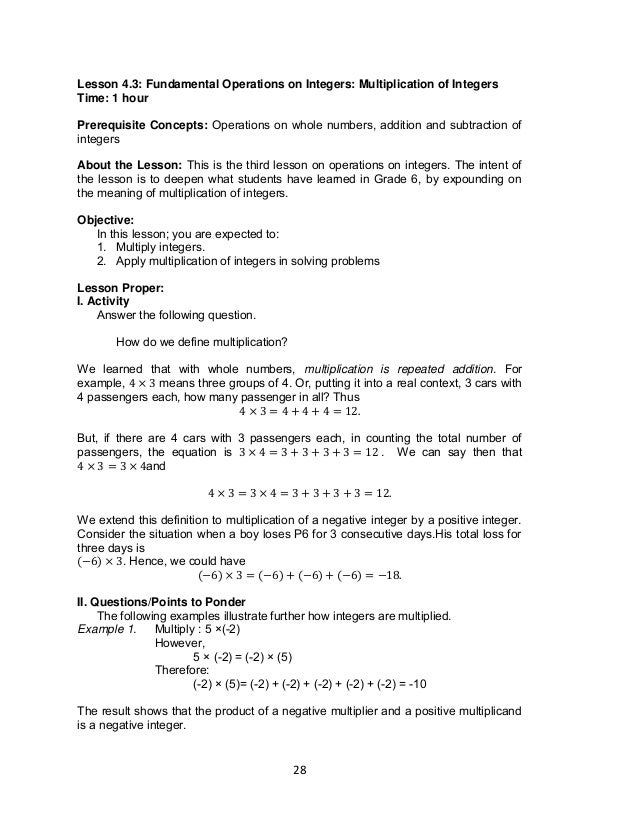 Grade 7 Learning Module in MATH – Math Worksheets Scientific Notation