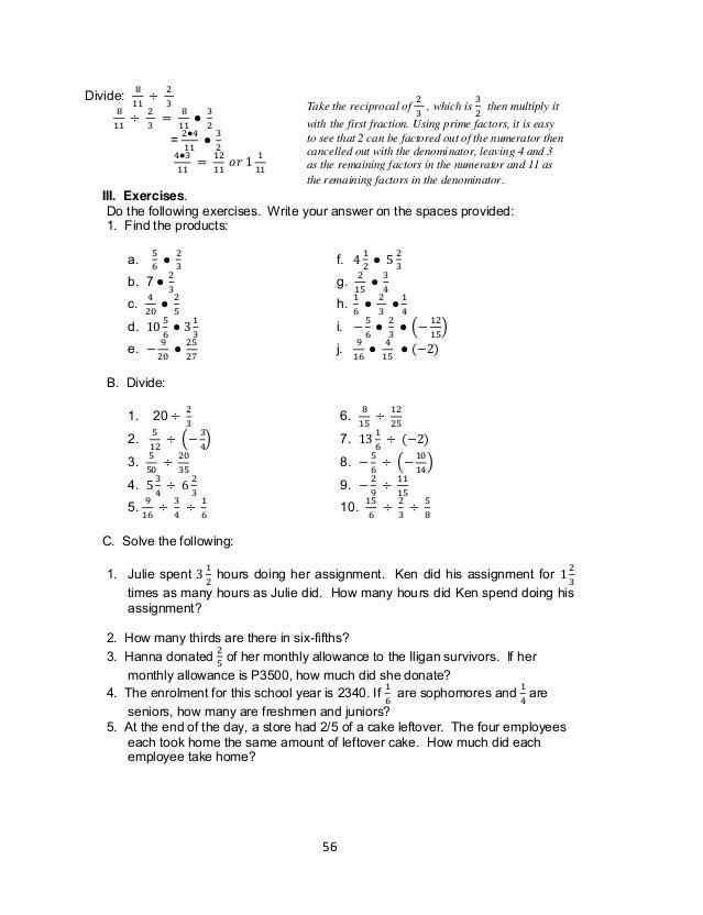Moving Words Math Worksheet Answers Key E 66 - grade 7 ...