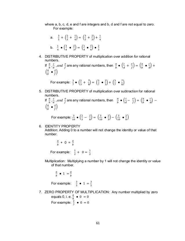 Grade 7 Learning Module in MATH – Math Worksheets Rational Numbers