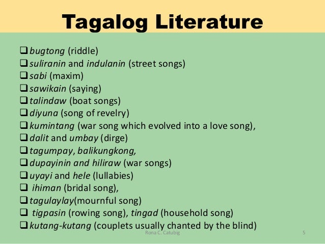 Grade 7 Philippine Pre Colonial Literature