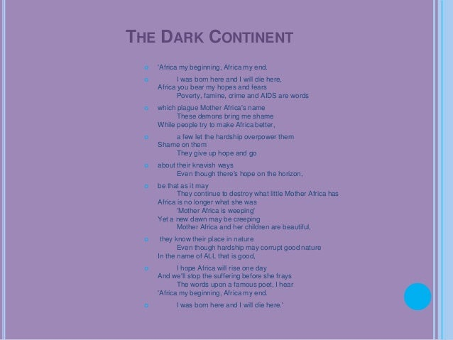 the dark continent poem