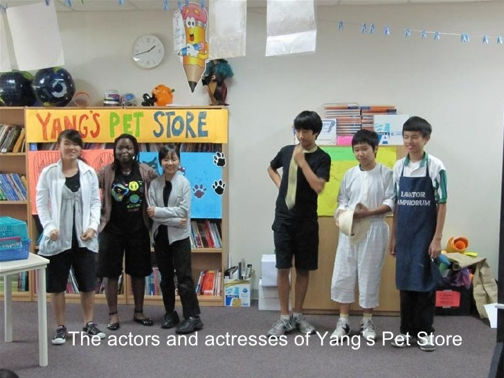 The actors and actresses of Yang's Pet Store
