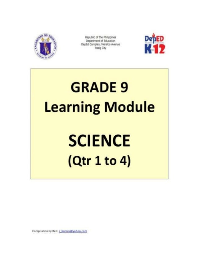 Grade 9 learner's module (science)