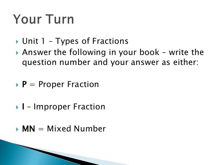 Types Of Fractions Worksheets types of fractions 4th grade math – Types of Fractions Worksheets